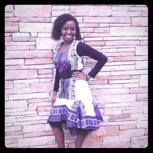African Print Highlow Dress